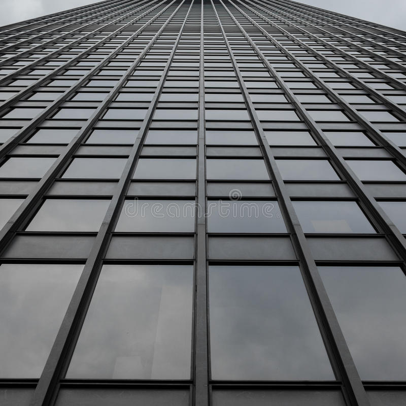 Grey Uniform Grid Skyscraper universale fotografia stock