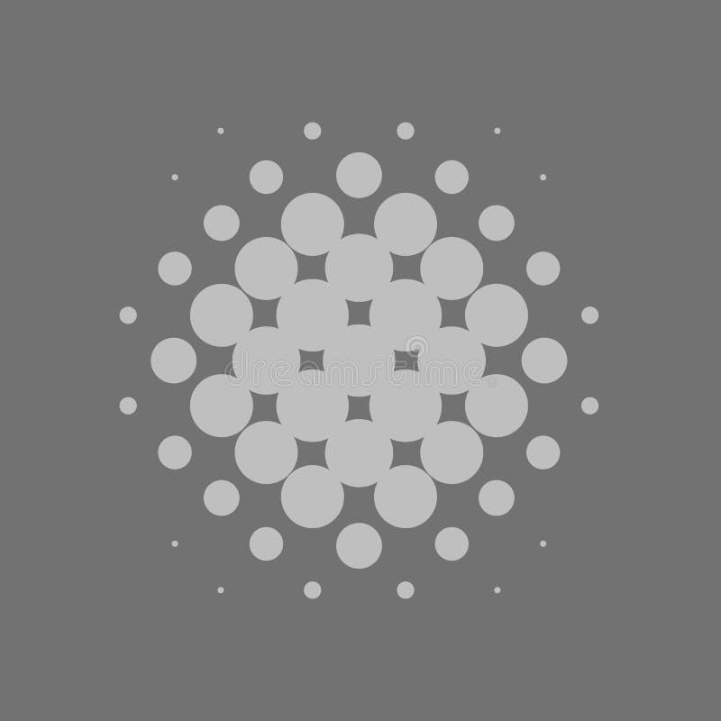 Grey Vector Halftone Background stock abbildung