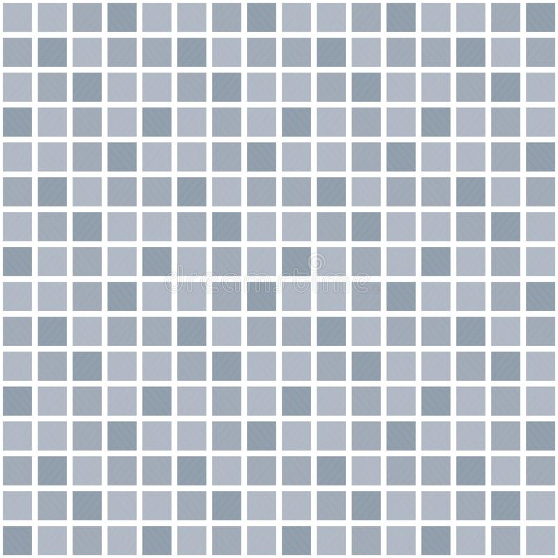 Grey vector square grid pattern. Seamless texture stock illustration