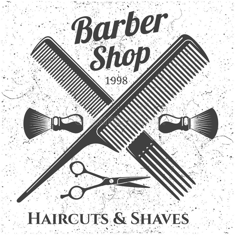 Vintage Barbershop Vector Emblems And Labels. Barber