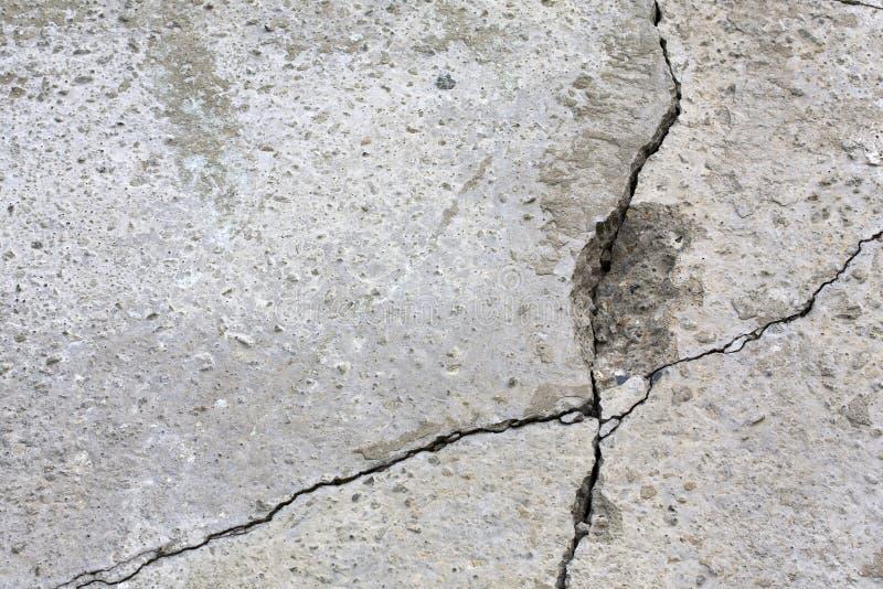 Grey Wall With Cracks. Royalty Free Stock Photos