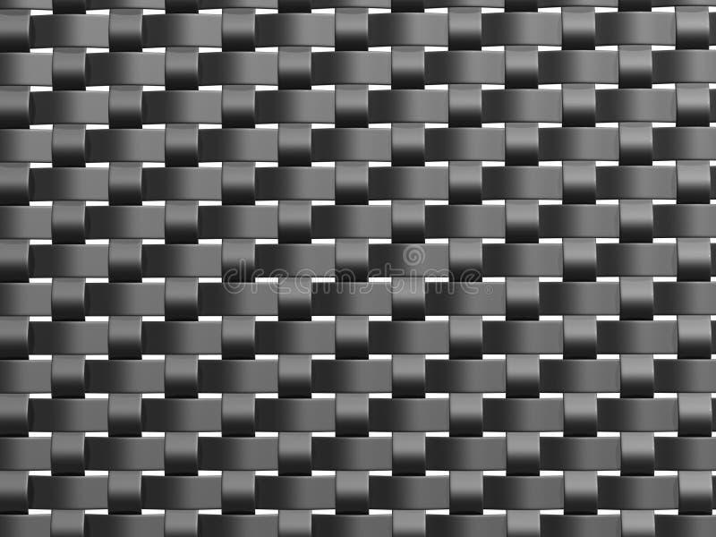 Grey weave pattern front stock illustration