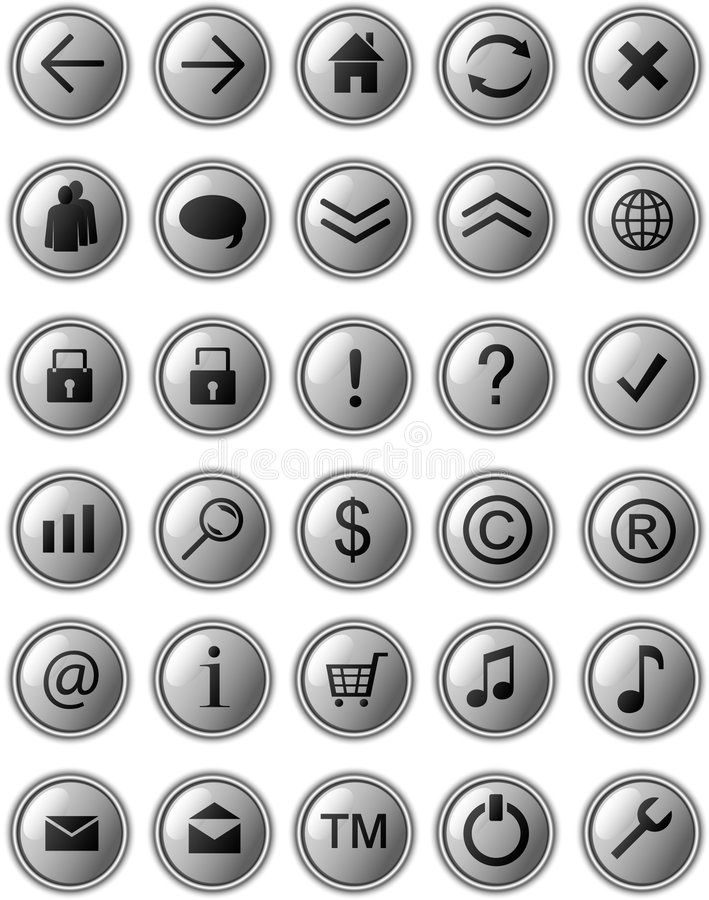 Download Grey web icons stock illustration. Image of grey, diagram - 8268937