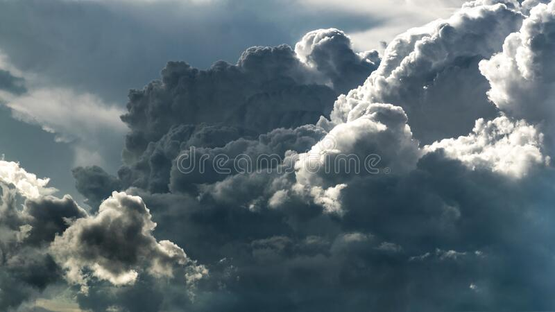Grey White Clouds stock photo