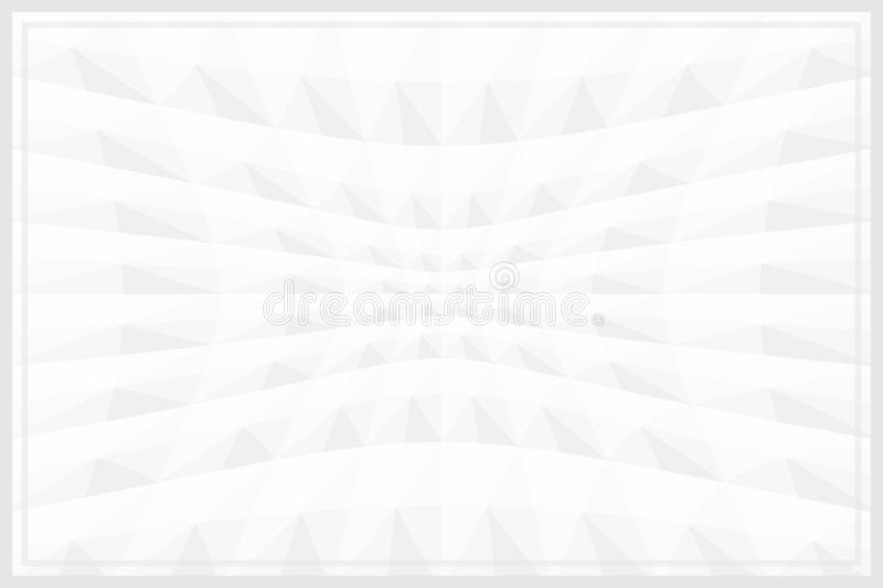 Grey white color template banner frame geometric zoom wave effect for background, graphic frame white grey for advertising royalty free illustration