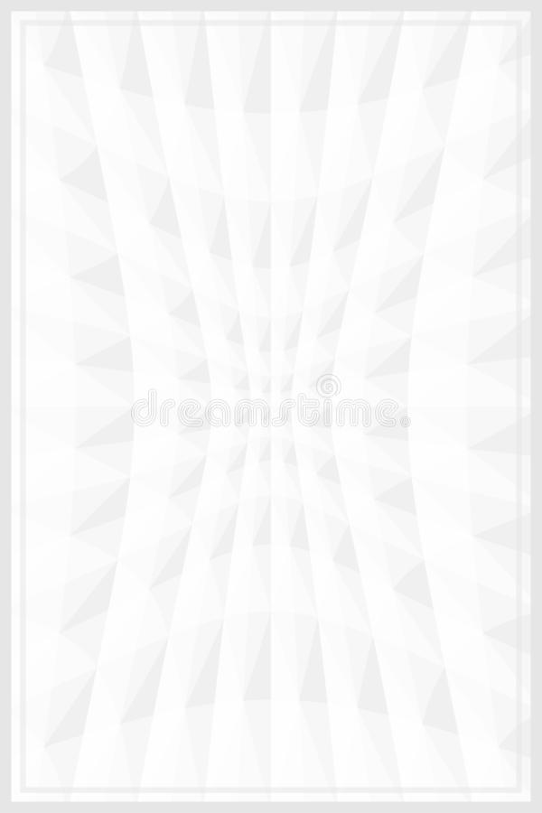Grey white color template banner frame geometric zoom wave effect for background, graphic frame white grey for advertising stock illustration