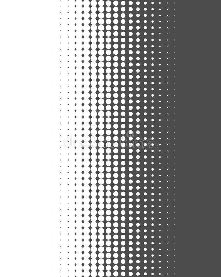 Gradient dots dark grey and white. Grey and white gradient background texture with dots stock illustration