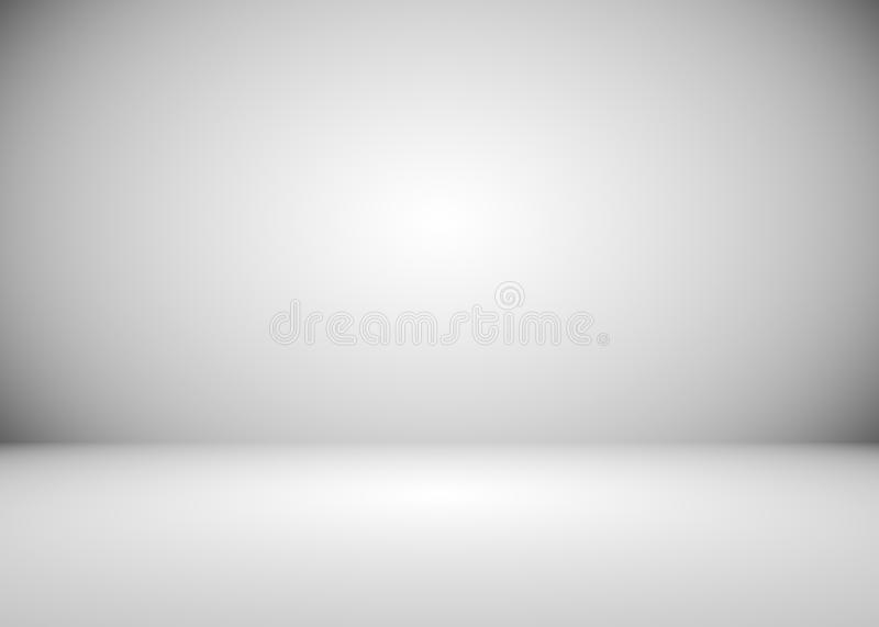 Grey And White Gradient Room Background Stock Illustration