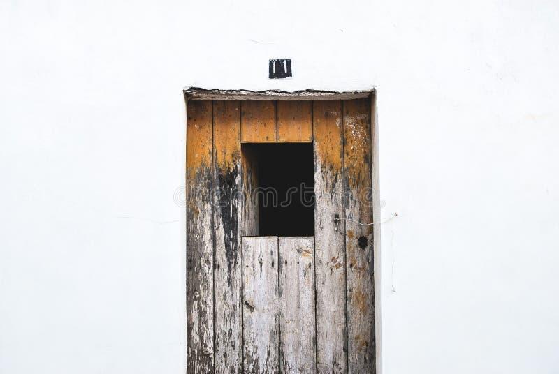 Grey Wooden Door royalty free stock photo