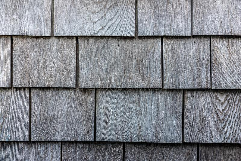 Grey wooden shingle texture pattern stock photos