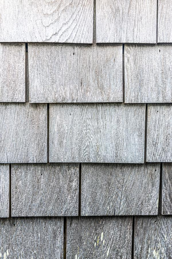 Grey wooden shingle texture pattern portrait stock photo
