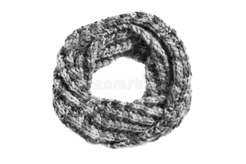 Knitted scarf isolated stock photos