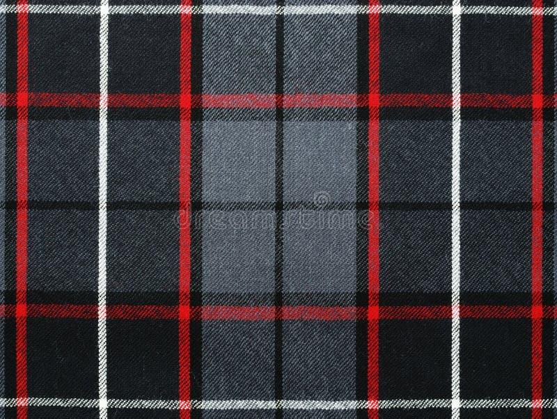 Grey wool plaid/tartan with stripe stock images