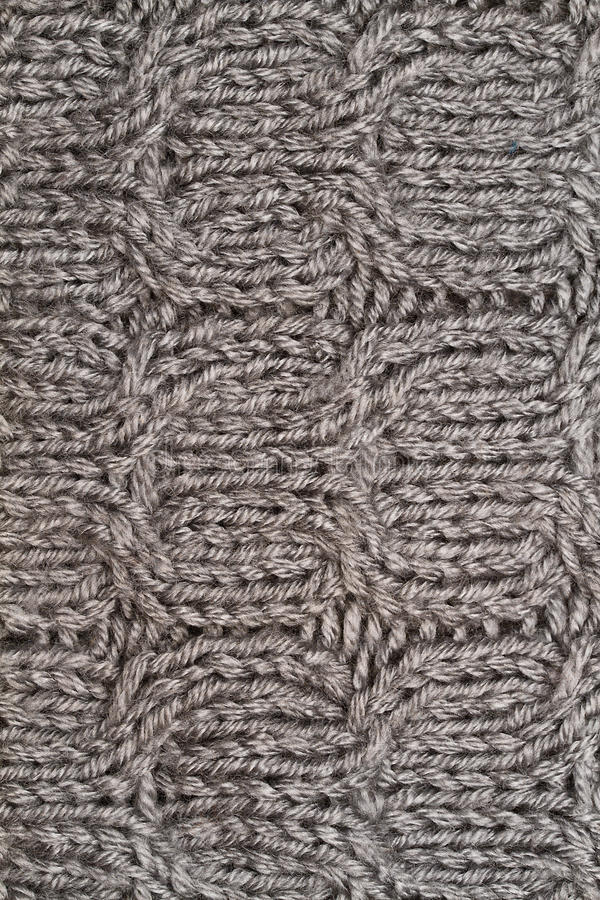 Grey wool texture. Knitted wool background in grey stock photography