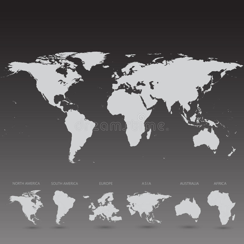 Grey world map on black background illustration stock illustration download grey world map on black background illustration stock illustration illustration of communication cartography gumiabroncs Choice Image