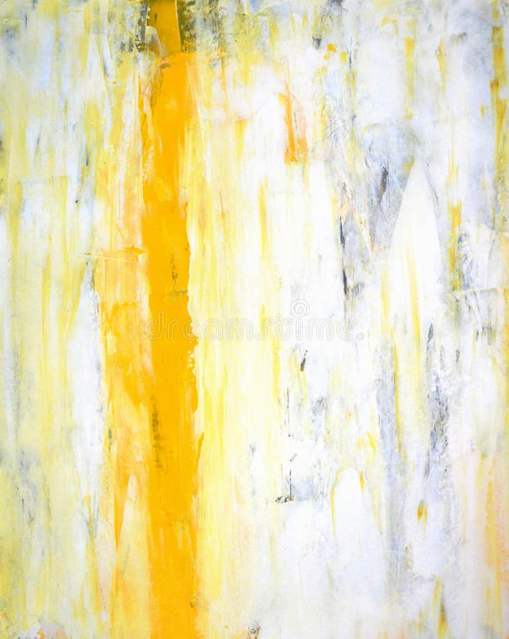 Grey and Yellow Abstract Art Painting royalty free stock photography