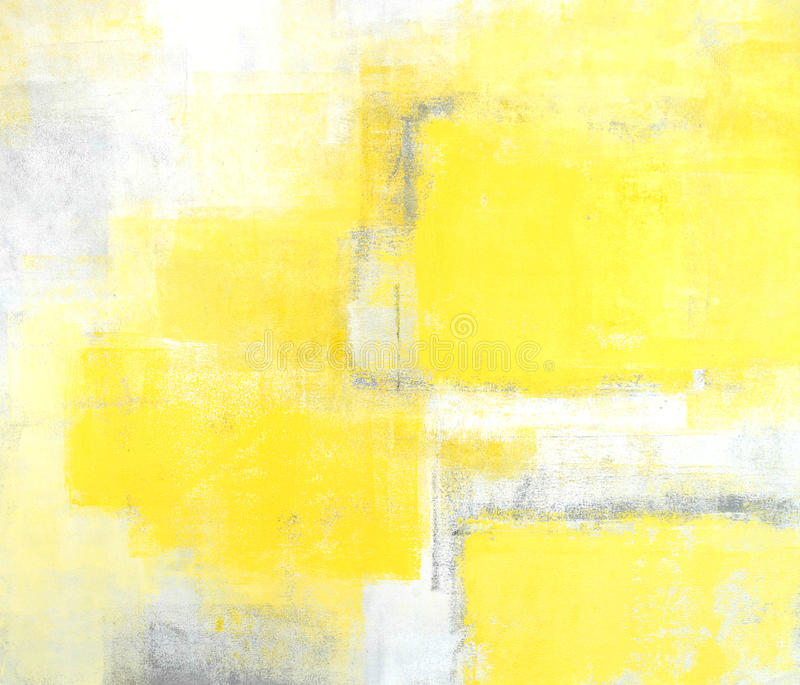 Grey and Yellow Abstract Art Painting royalty free stock image