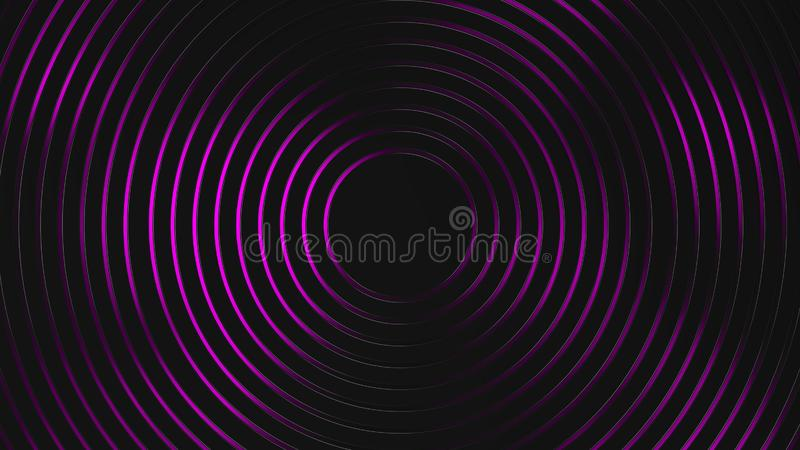 Grey and purple circles modern background. Grey and yellow circles modern background illustration, 3d render royalty free illustration