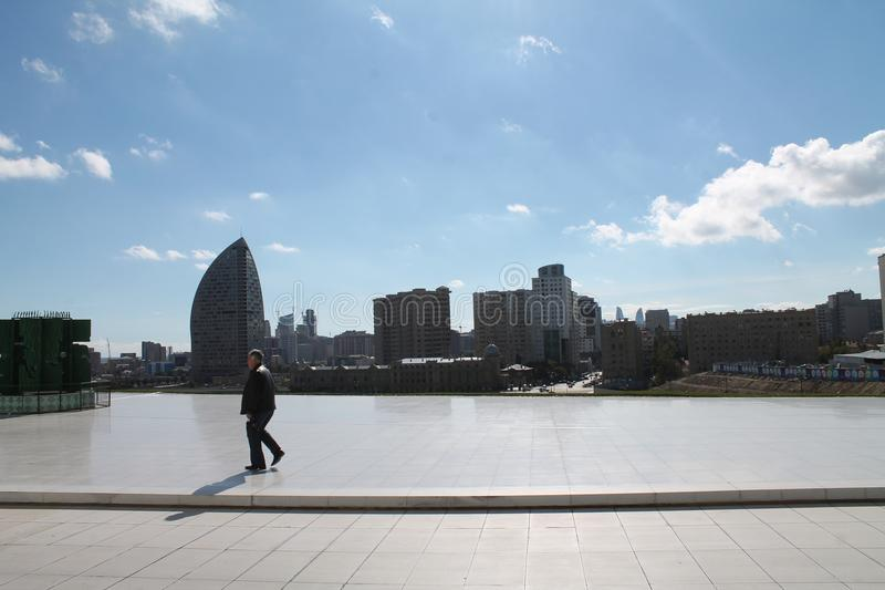 Greybeard στο Heydar Aliyev στοκ εικόνα με δικαίωμα ελεύθερης χρήσης