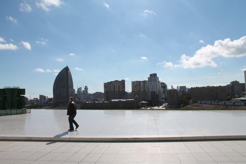 Greybeard em Heydar Aliyev imagem de stock royalty free