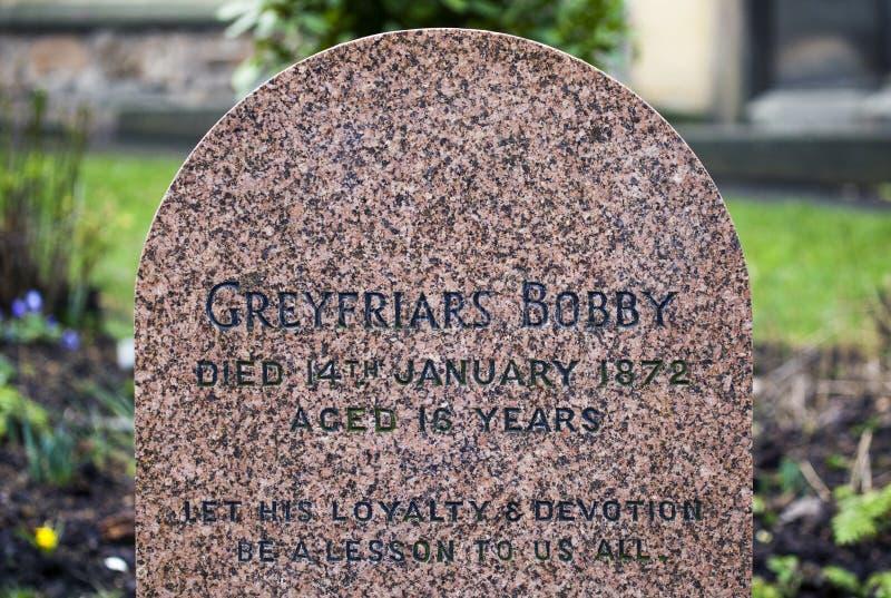 Greyfriars Bobby Grave i Edinburg royaltyfria foton