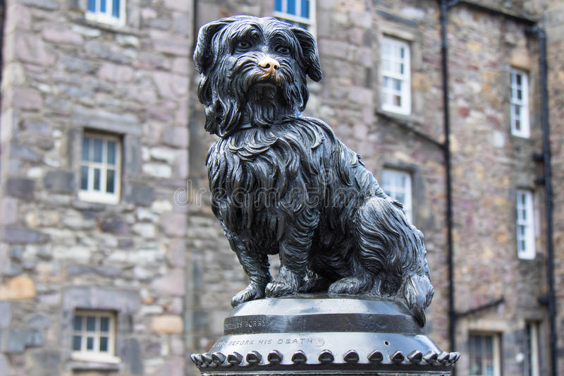 Greyfriars Bobby in horizontal picture stock images