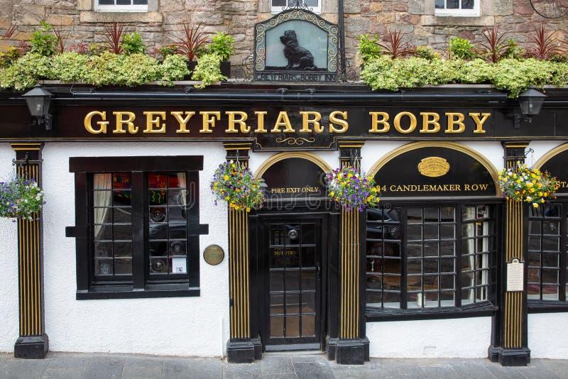 Greyfriars Bobby Pub sur le Candlemaker Row au centre de la ville d'Edimbourg, photo stock