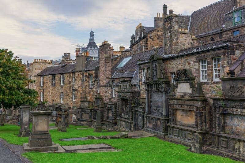 Greyfriars Kirkyard en Edimburgo, Escocia imágenes de archivo libres de regalías