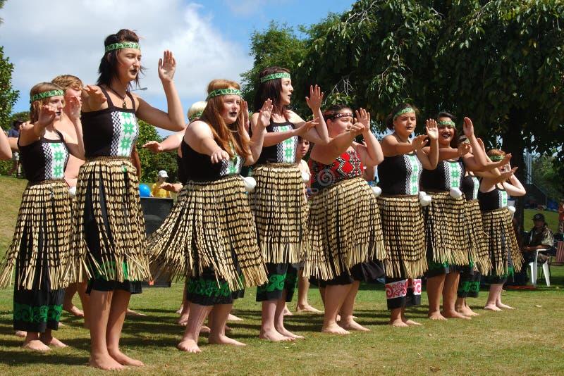 Danza maorí imagenes de archivo