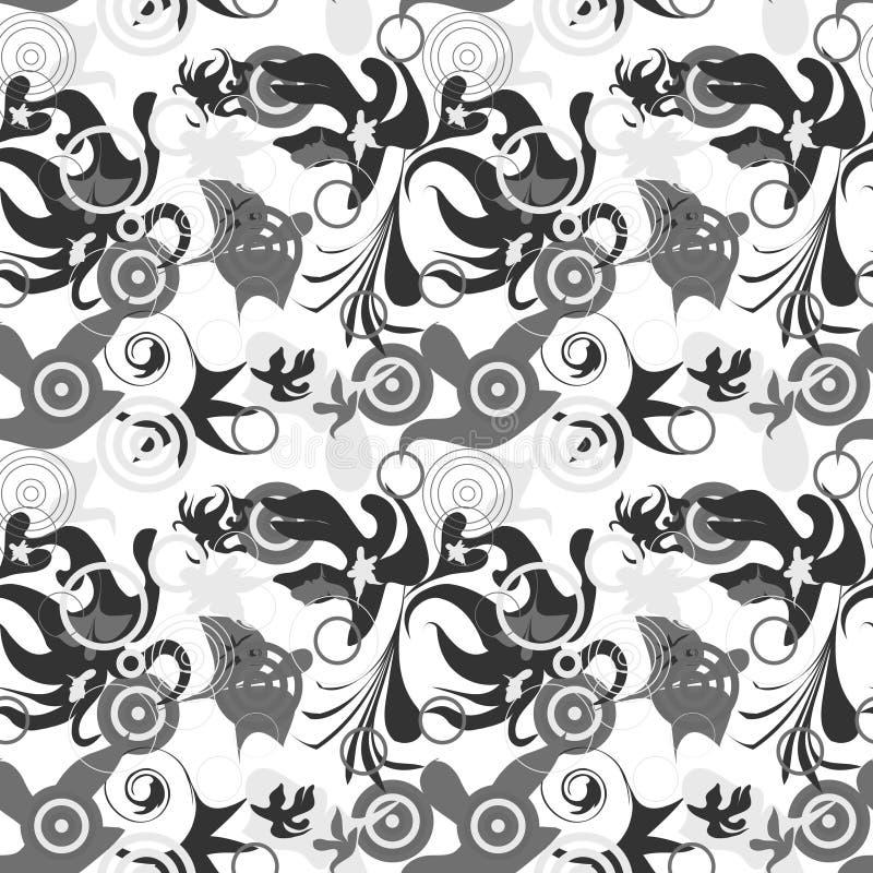 greyscale картина безшовная иллюстрация штока