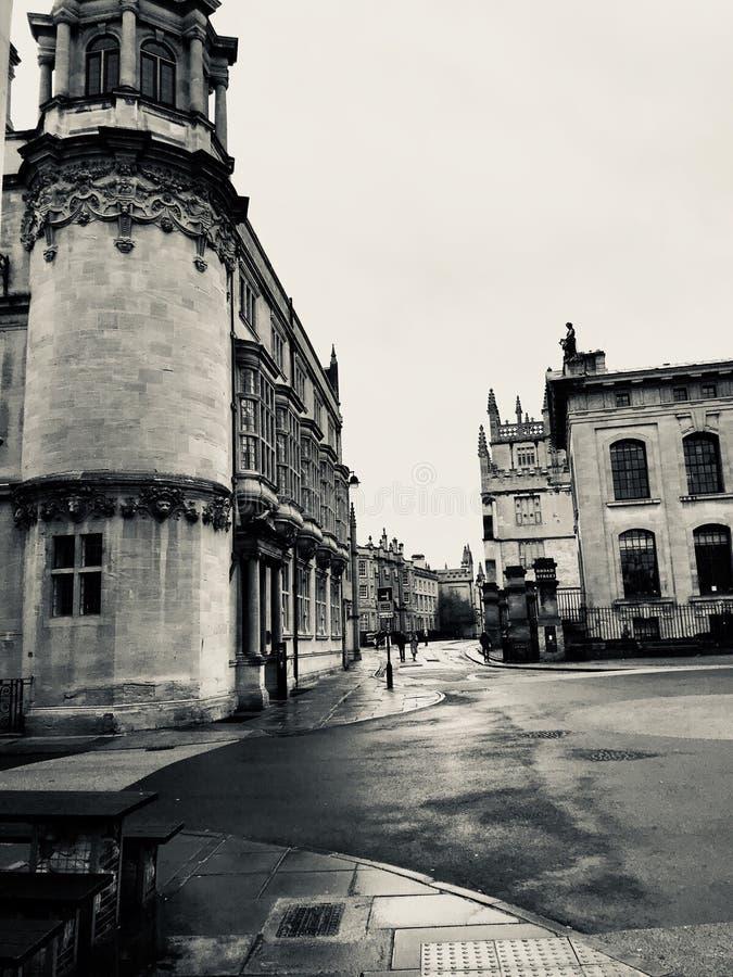 Greyscale en stad van Oxford royalty-vrije stock fotografie