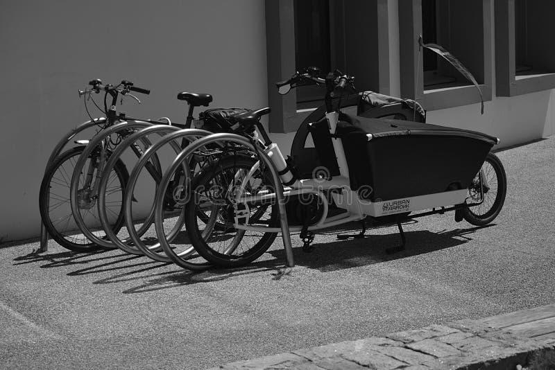 Greyscale Photo Of Utility Bike During Daytime Free Public Domain Cc0 Image