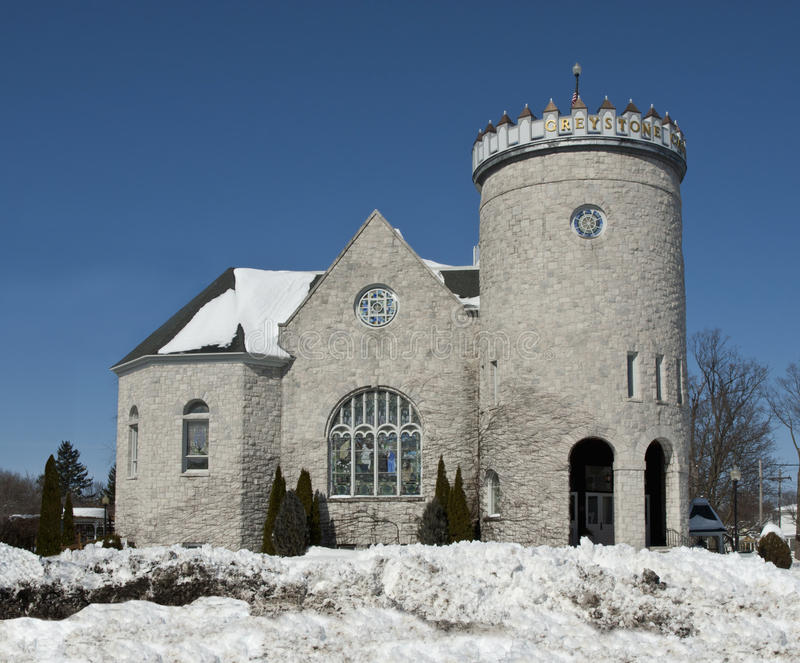 Download Greystone castle stock image. Image of church, snow, ballroom - 18694561
