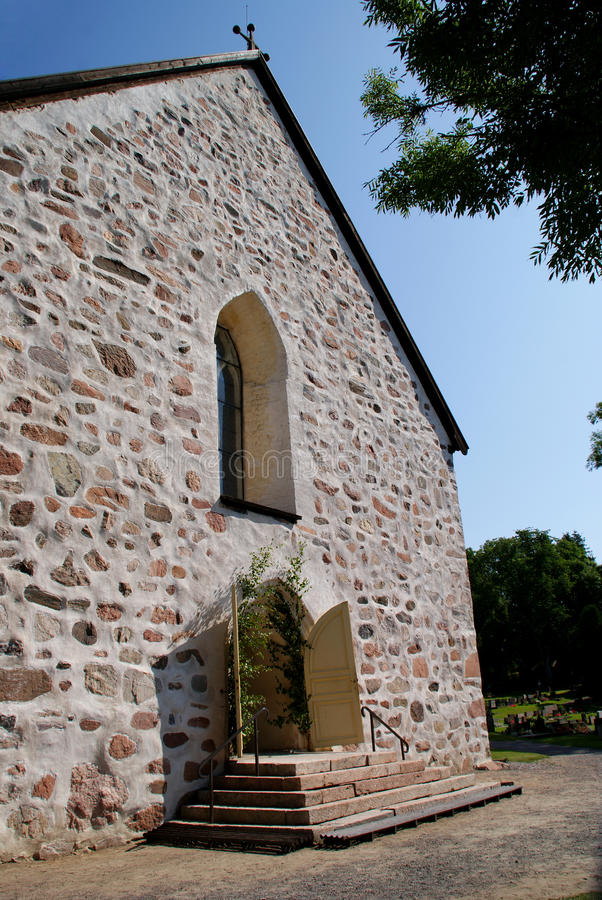 Greystone Church in Tenhola, Finland stock photography