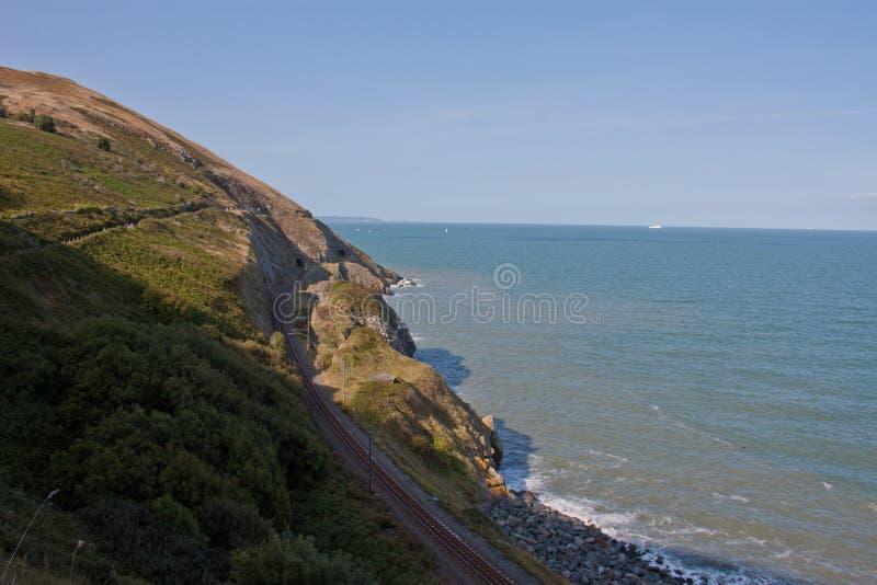 Greystones aan Bray Cliff Walk stock afbeelding