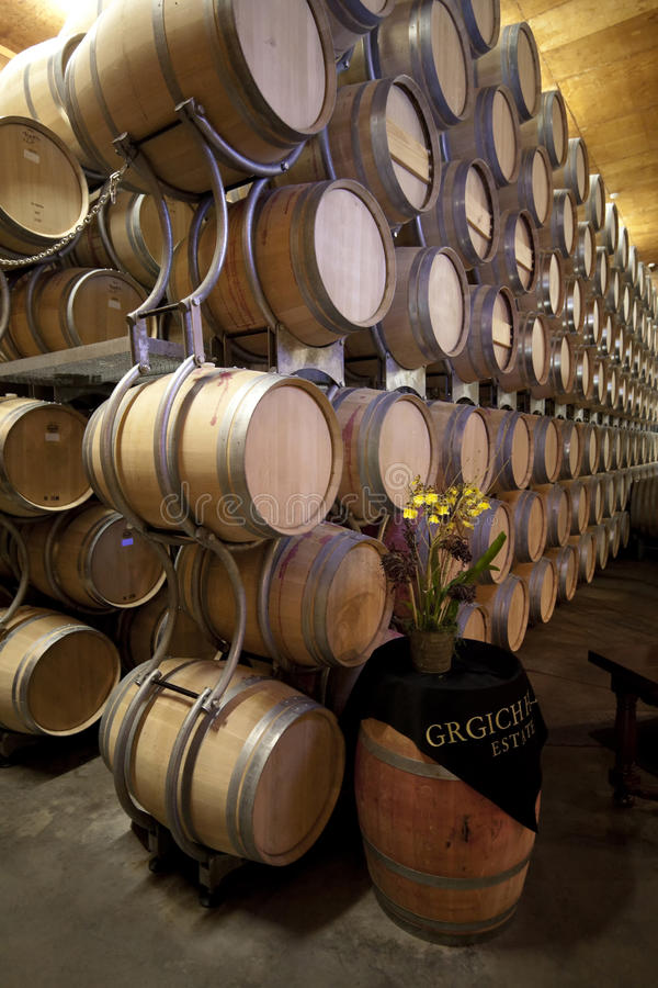 Download Grgich Hill Winery editorial stock image. Image of barrel - 24345764