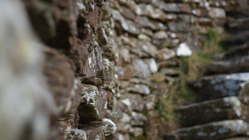 Grianan Aileach fortu Kamienne ściany & kroki zdjęcia stock