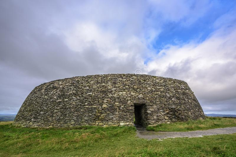 Grianan Aileach lub Greenan fort, Inishowen, okręg administracyjny Donegal, Irlandia obrazy royalty free