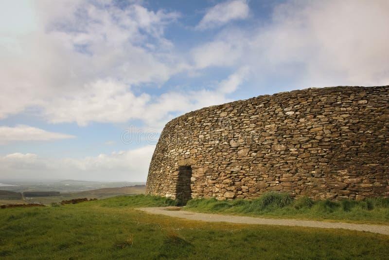 Grianan de fort d'Aileach ou de Greenan Inishowen Comté le Donegal l'irlande images stock