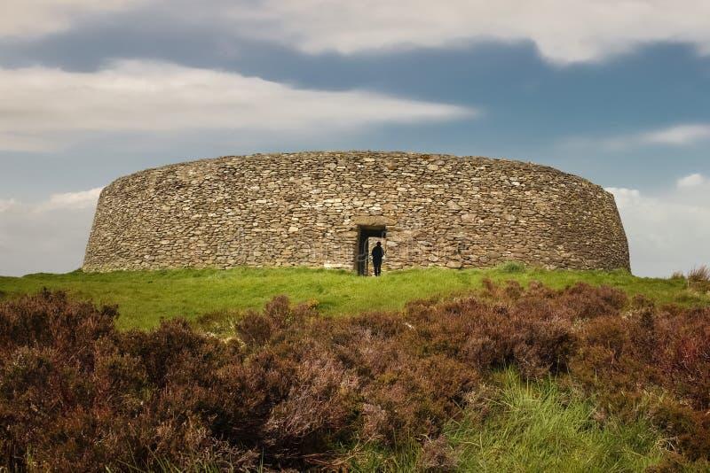 Grianan von Fort Aileach oder Greenan Inishowen Grafschaft Donegal irland lizenzfreie stockfotos