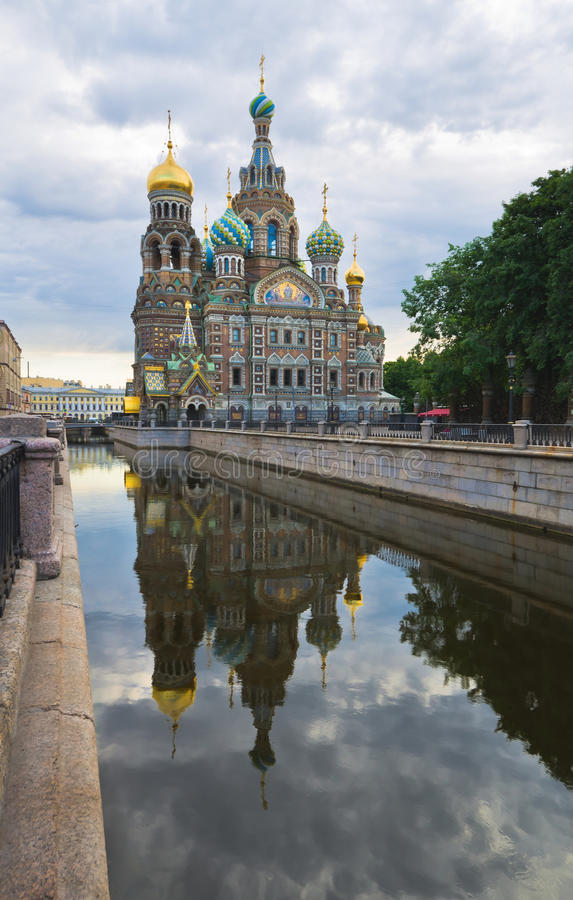 Griboedov channel in St.-Petersburg royalty free stock photo