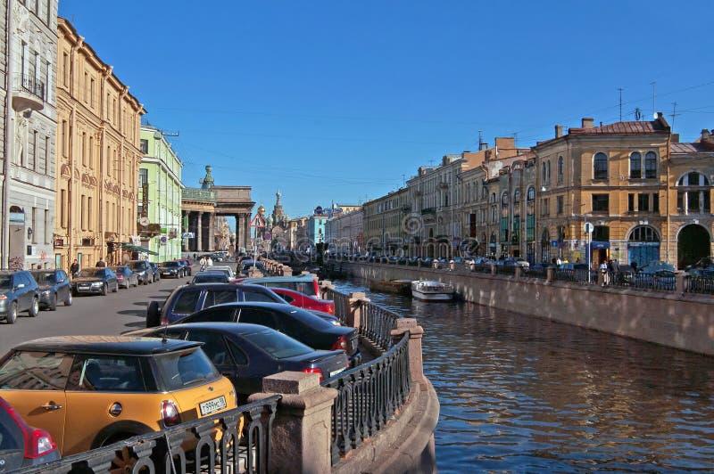 Griboyedovkanaal, heilige-Peterburg, Rusland stock afbeelding