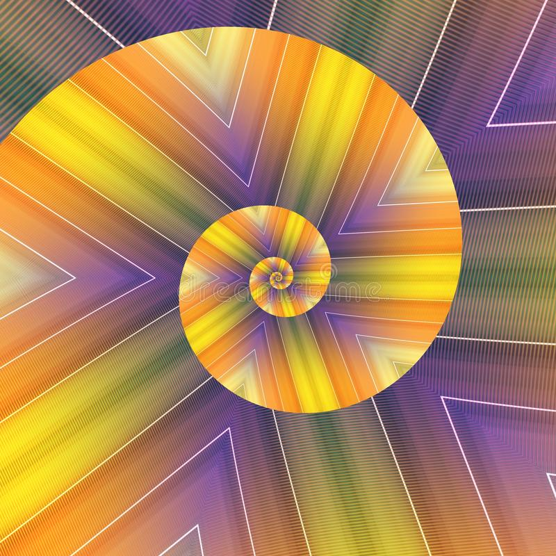 Spiral kaleidoscope. Grid abstract spectrum background illustration design concept structure texture orange yellow red green pink purple color lines white lgbt royalty free stock photos
