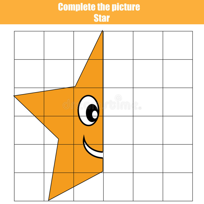 Download Grid Copy Game Complete The Picture Children Coloring Page Kids Activity Sheet
