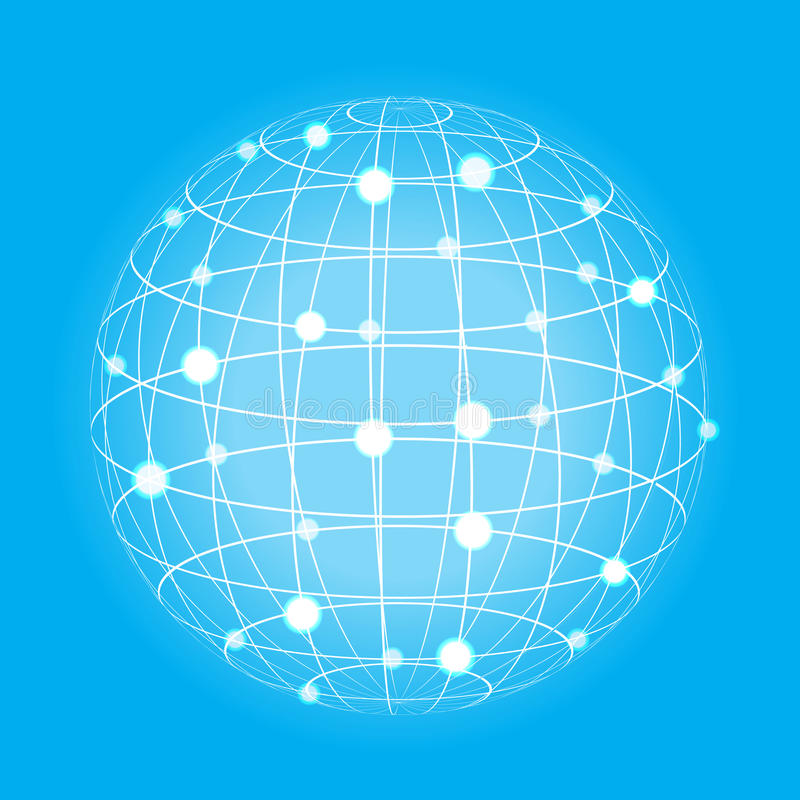 Grid earth globe icon royalty free illustration