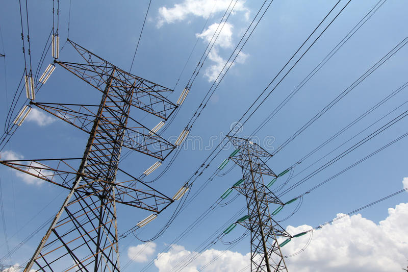 Grid energy distribution from cables - Series 5 royalty free stock photos