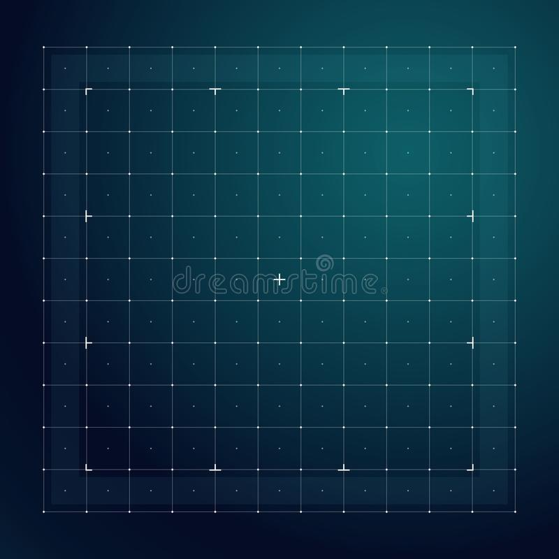 Grid for futuristic hud interface. Line technology vector pattern. Digital screen interface display, electronic grid for futuristic user system illustration stock illustration