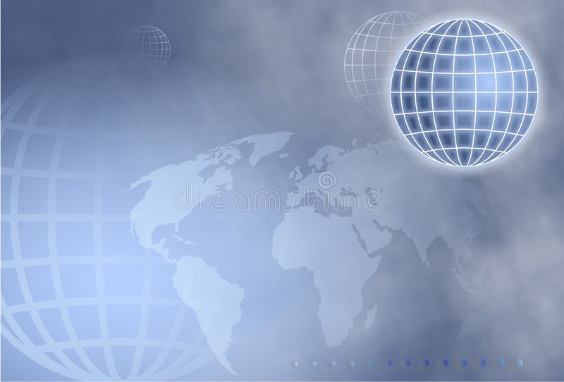 Grid Globe stock photo