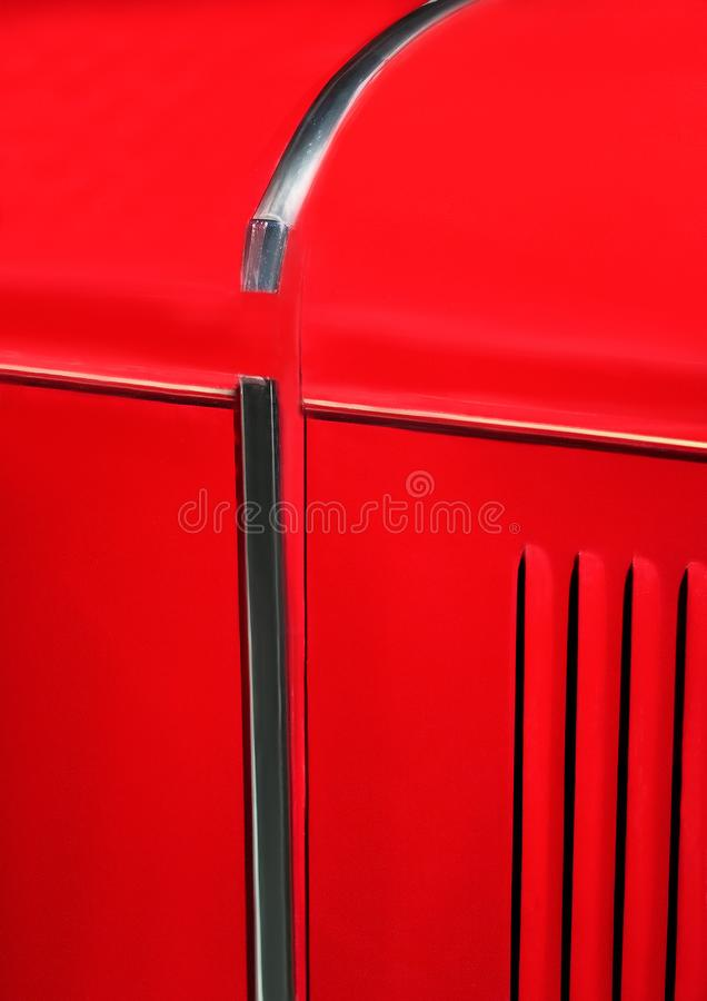 Grid grille in the hood of vintage car close up stock images