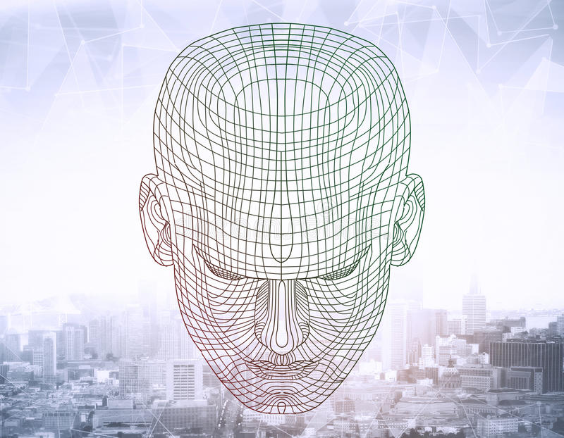 Grid human head royalty free stock photography